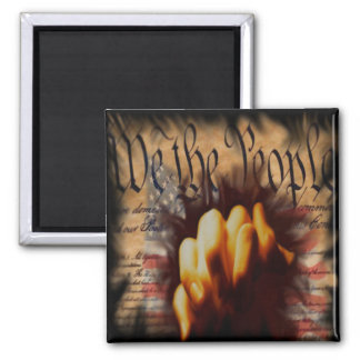 We The People Pray Square Magnet