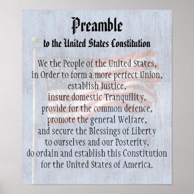 Preamble of the Constitution. Poster   Zazzle