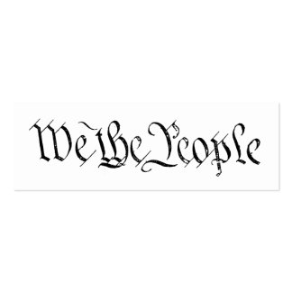 We the People Profile Card Double-Sided Mini Business Cards (Pack Of 20)