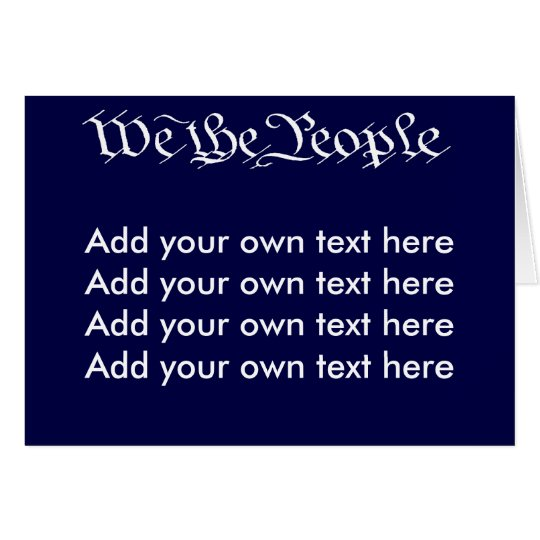 We the People Red Postcard