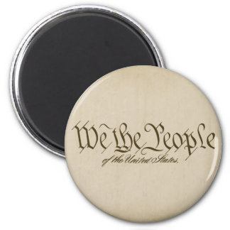 We The People Round Magnets