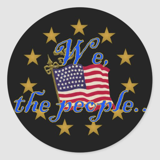 We, the People Round Stickers