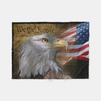 We The People Small Fleece Blanket