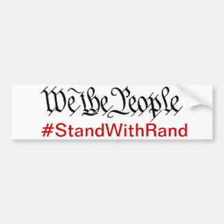 We The People Stand With Rand Bumper Sticker Car Bumper Sticker