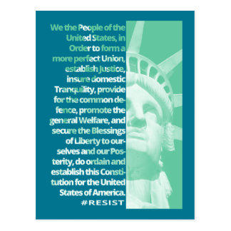 We The People Statue Of Liberty RESIST Postcard