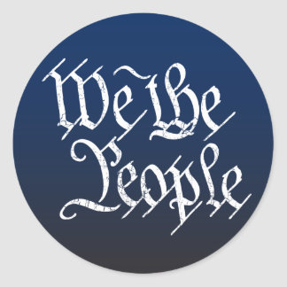 We The People Classic Round Sticker