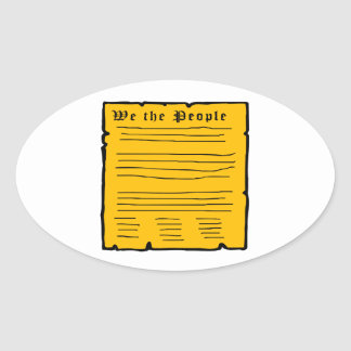 We The People Oval Stickers