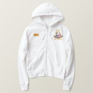 """WE THE PEOPLE"" TEA PARTY EMBROIDERED HOODIE"