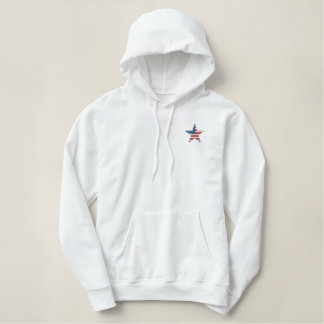 We The People Tea Party Embroidered Hoodie
