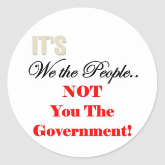 We the People Tea Party T-shirts Round Stickers