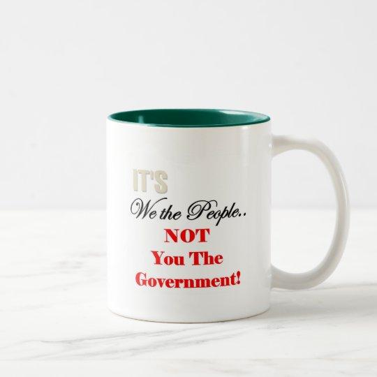 We the People Tea Party T-shirts Two-Tone Coffee Mug