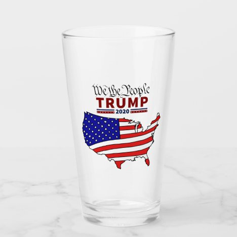 """""""We The People"""" Trump 2020 Glass Cup"""