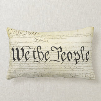 We The People US Constitution Lumbar Pillow