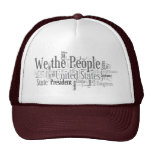 We the People - US Constitution words libertarian Mesh Hats
