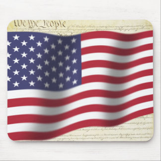 We The People Us Flag Mouse Pad