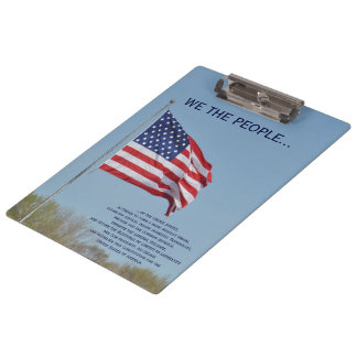 We The People USA Flag Clipboard by Janz