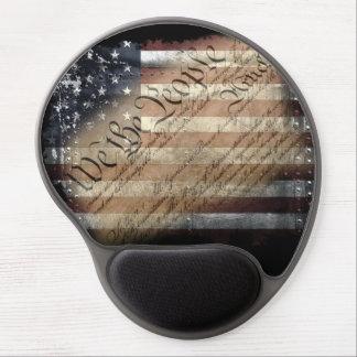 We The People Vintage American Flag Gel Mousepad