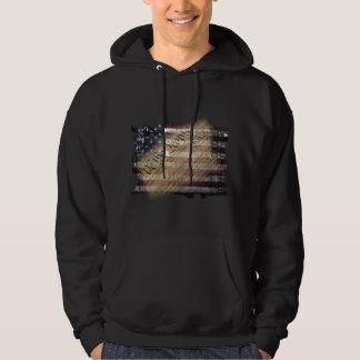 We The People Vintage American Flag Hoodie