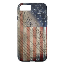 We The People Vintage American Flag iPhone 7 Case