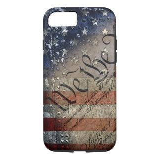 We The People Vintage American Flag iPhone 8/7 Case