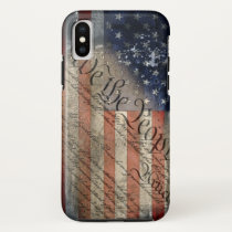 We The People Vintage American Flag iPhone X Case