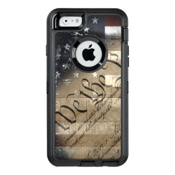 We The People Vintage American Flag Otterbox Defender Iphone Case by KDRDZINES at Zazzle