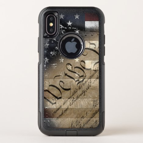 We The People Vintage American Flag OtterBox Commuter iPhone X Case