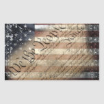 We The People Vintage American Flag Sticker
