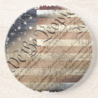 WE THE PEOPLE VINTAGE INDUSTRIAL USA FLAG Coaster