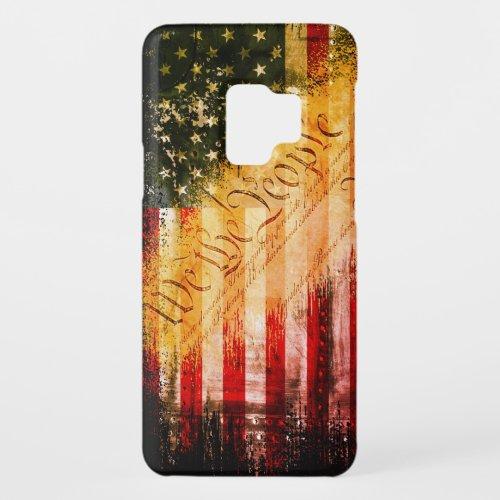 WE THE PEOPLE Vintage Retro Rock American Flag Phone Case