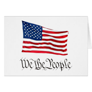 'We The People' w/Flag Greeting Card