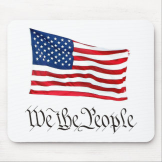 'We The People' w/Flag Mouse Pad