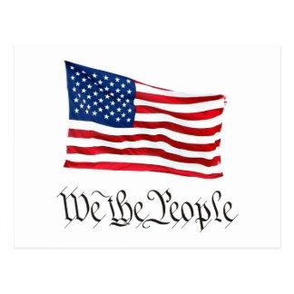 'We The People' w/Flag Postcard