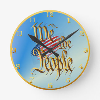 We The People Wallclock