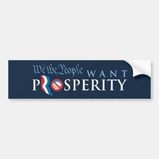 We The People Want Prosperity Pro-Romney Bumper St Car Bumper Sticker