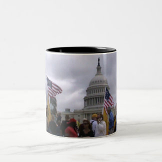 We The People Washington DC Two-Tone Coffee Mug