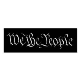 We the People White Profile Card Business Cards