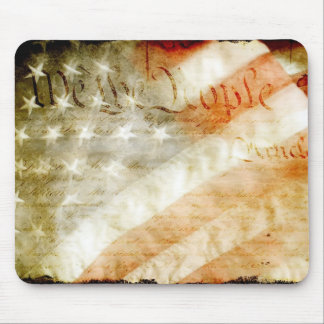 We The People with American Flag Mouse Pads