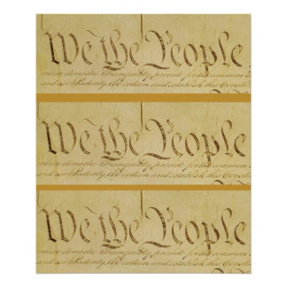 We the People x 3 Poster