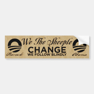 We The Sheeple Bumper Sticker