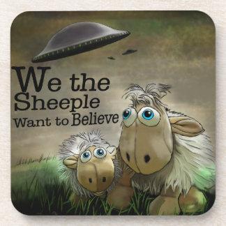We the Sheeple Cork Coaster