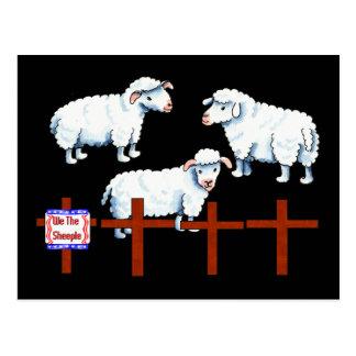 We The Sheeple Postcard