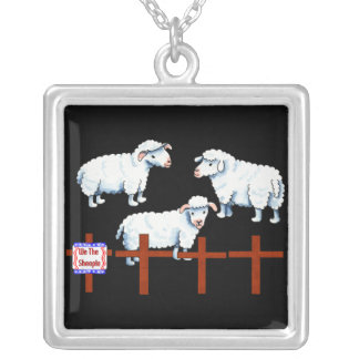 We The Sheeple Square Pendant Necklace