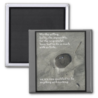 We The Willing 2 Inch Square Magnet