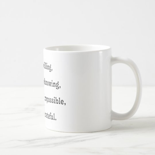 We the Willing Coffee Mug