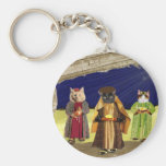 We Three Cats Keychain