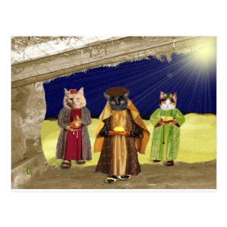 We Three Cats Postcards