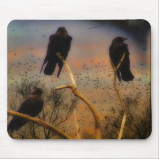We Three Crows Mouse Pad