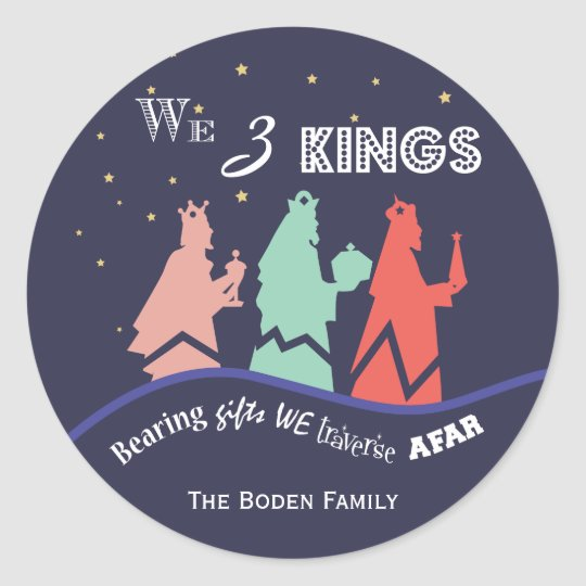 We Three Kings | Blue Holiday Stickers
