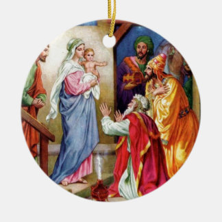 We Three Kings Double-Sided Ceramic Round Christmas Ornament